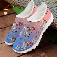 Womens Sneaker Nurse Flat Casual Shoes Mesh Slip On Shoes Running Sport Sneakers