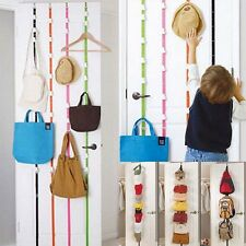 10 Hooks Over the Door Hanger Hat Cap Bag handbag Clothes Rack Holder Organizer