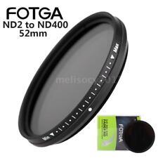 FOTGA 52MM Slim Fader Variable ND Lens Filter Optical Neutral Density ND2-ND400