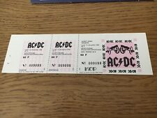 ticket concert Collector AC/DC Decembre  1982