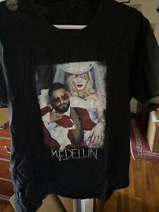 Madonna Men/'s Circle T-shirt Mens Black Medium