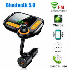 Vivavoce Bluetooth Car Kit Trasmettitore FM Lettore MP3 LCD Caricatore USB QC3.0