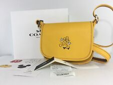 Disney Coach F59359 Patricia Banana Glove Calf Leather Bag Mickey Mouse MSRP$495