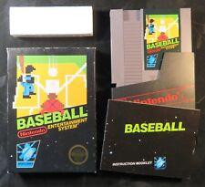 1985 Baseball Nintendo NES Video Game Black Box Hangtab Round Seal 5 Screw CIB