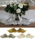 Pair of Angel Wings Ornate Vintage Shabby Cherub Wall Art Fair Garden Decoration