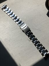 Oyster Style 20mm Watch Strap/Bracelet - Solid Links In Polished & Brushed Steel
