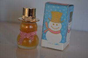 Vintage Avon Snowman Petite Cotillion with Box Full .25 Fluid Ounce