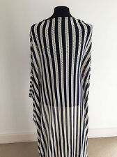 Nautical Striped Navy/Cream Laser Cut Jersey Dressmaking Fabric