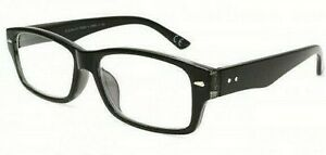 + 2.00 strength Foster Grant  Hugo Black Reading Glasses with Spring Hinges