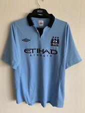"2012/2013 Manchester City home football shirt XL mens Umbro Etihad 46"" MCFC"