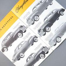 ✇ CHRYSLER Thunderbolt Newport 1941 US Propekt Brochure 4 Doppelseiten