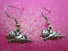 Tabby Kitty Cat Earrings