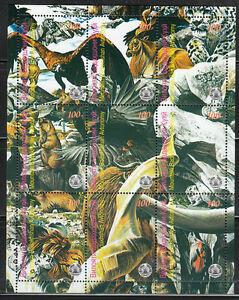 Souvenir sheet of 9 MNH stamps Deer Birds Wild animals Eagle **
