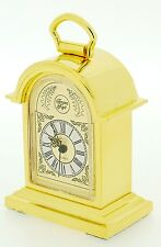 Miniature Novelty Tompion Bracket Clock in Solid Brass