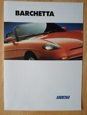 FIAT BARCHETTA ORIG 1996 Regno Unito delle vendite sul mercato opuscolo