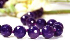 ENCANTADOR lilafarbene Collar DESDE Ágata en tallada forma de bola d-14mm
