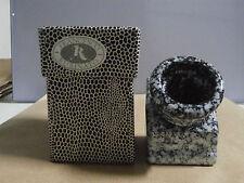 Calamaio in vetro decorato ceramica F. Rubinato inchiostro penna stilografica