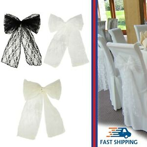 Lace Chair Sash Bow Tie Vintage Style DIY Fabric Wedding Banquet Events Party