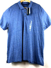 Perry Ellis Principles Mens Lightweight Polo Shirt XXL Moisture Wicking Lt Denim