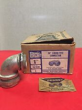 "1969 GEDNEY 4Q-9100  LIQUIDTIGHT CONNECTOR SIZE 1"" 90 Degree NEW OLD STOCK"