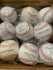 18 New White Practice Softballs, 12 Inch, Official Softball Leather Cover
