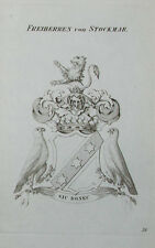 El emblema de 1867 caballeros libre de Stockmar grabado tyroff