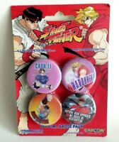 Badge CAPCOM street fighter  4x 38mm official BADGE PACK neuf