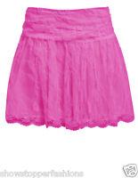 New Lace Skirt Women's Short Skirts Ladies Mini Black Side Zip Size 8 10 12 14