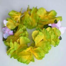 Premium Green Hawaiian Crown Lei Headband Paradise Petunia with Orchids Boho