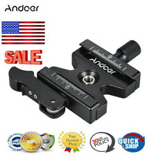 Andoer Professional Clamp+Quick Release Qr Plate Knob Type for Arca Swiss Tripod