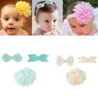 3Pcs Baby Toddler Kids Girls Bow Headband Ribbon Elastic Hair Band Accessories