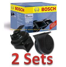 X2 Sets - NEW BOSCH EC6 12V 400/500HZ 110dB Compact Plus Dual Tone Car SUV Horns