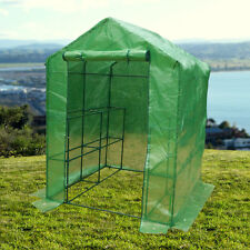 8 Shelves Greenhouse Portable Mini Walk In Outdoor Plant Green House 2 Tier
