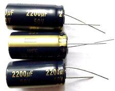 2200uf 50v 105c LOW ESR  Size 18mmx35.5mm  Panasonic EEUFC1H222   x3pcs