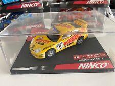 Ninco 50256 Slotcar Porsche 911 German Rally Pirelli nº0 gelb mit LED-Licht OVP