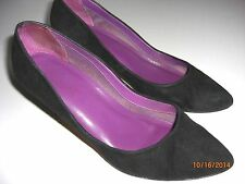 9 NINE WEST Women's Black Leather / Suede Shoes, Heels, Pumps Sz 6.5M