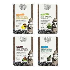 Welcos Jeju Natural Aloe Green Tea  Canola Honey Volcanic Mask Sheet 4pcs korea