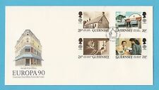 STAMP FIRST DAY COVER - GUERNSEY  -  EUROPA  90  -  1990