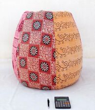 Handmade Quilted Embroidered Cotton Floral Bohemian Bean Bag Kids Furniture BD70