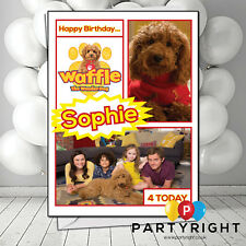 Personalised Waffle Wonder Dog Birthday / Any Greetings Card • Any Name  Any Age
