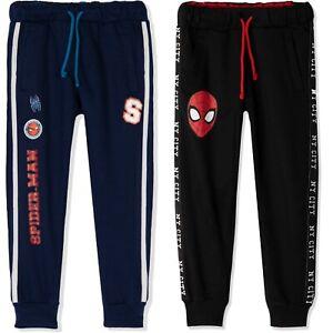 Spiderman Marvel Boys 100% COTTON Sport Sweatpants Trousers Joggers Bottoms 2-9y