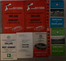 More details for 5 x england school boy internationals + 2 song sheets