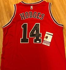 CRAIG HODGES Signed Auto Chicago Bulls jersey 90 91 92 3 PT CHAMP Photo PROOF