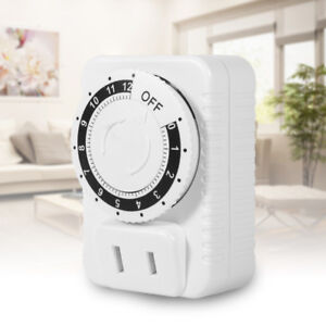 12Hour Electrical Countdown Plug-in Timer Indoor Sockets Energy-saving Swtiches