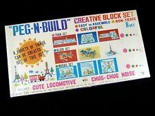 Rare PEG-N-BUILD Creative Block Set No. 194 Building Toy Yonezawa Japan ~1960s