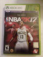 NBA 2K17 Video Game (Microsoft XBOX 360) Tested & Working Complete In Box CIB
