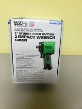 """Matco Tools 1/2"""" Stubby Push Button Impact Wrench Green (Model: Mt2765G)"""