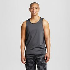 ec18b861 Men's Champion C9 XL 1x Grey Ebony Black Dry Fit Workout Shirt Tank Top
