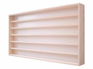 v-14 Setzkasten Sammler-Vitrine Regal  Modellauto Wand-Vitrine Holz