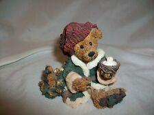 Boyd's Elgin the Elf Bear Figurine #2236 Holding Bird Nest